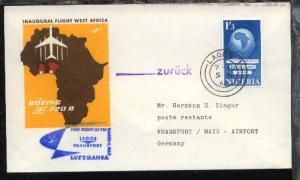 Lufthansa-Erstflug-Bf. Lagos-Frankfurt 5.3.1962