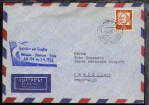 Lufthansa-Erstflug-Bf. München-Paris 1.4.1962