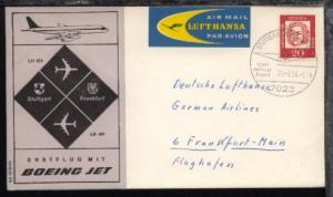 Lufthansa-Erstflug-Bf. Stuttgart-Frankfurt 26.4.1964