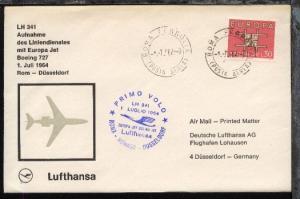 Lufthansa-Erstflug-Bf. Rom-Düsseldorf 1.7.1964
