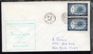 PANAM-Erstflug-Bf. New York-Düsseldorf 26.10.1959