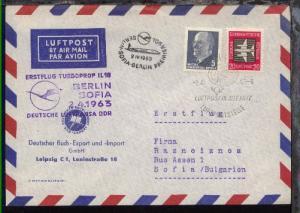 Lufthansa-Erstflug-Bf. Berlin-Sofia 2.4.1963