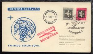Interflug-Erstflug-Bf. Berlin-Sofia 3.9.1963