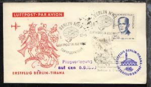 Interflug-Erstflug-Bf. Berlin-Tirana 5.9.1963