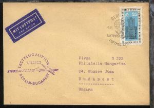 Interflug-Erstflug-Bf. Berlin-Budapest 1.11.1963