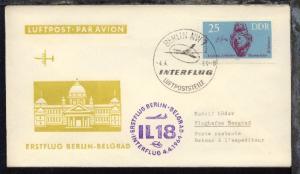 Interflug-Erstflug-Bf. Berlin-Belgrad 4.4.1964