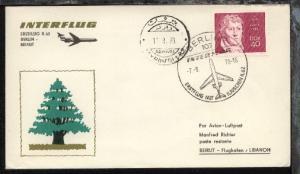 Interflug-Erstflug-Bf. Berlin-Beirut 7.8.1970