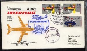 Interflug-Erstflug-Bf. Berlin-Istanbui 6.7.1990