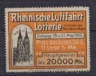 Vignette Rheinische Luftfahrt Lotterie zu Gunsten des Prinz-Heinrich-Fluges 1913 0
