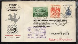 Niederlande KLM-Erstflug-Bf. Amsterdam-Houston 3.9.1957
