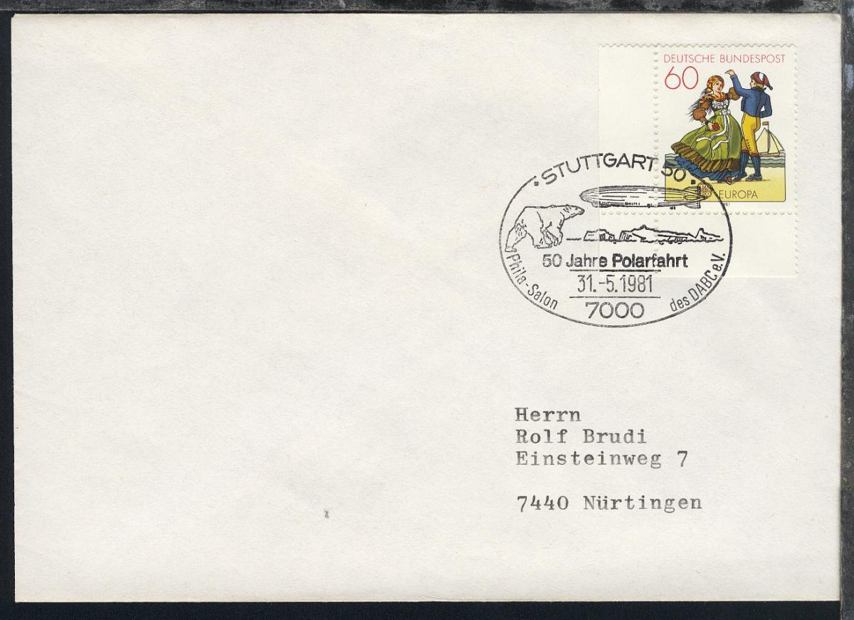 1978/83 14 verschiedene Belege mit diversen Zeppelin-Jubiläums-SSt. 0