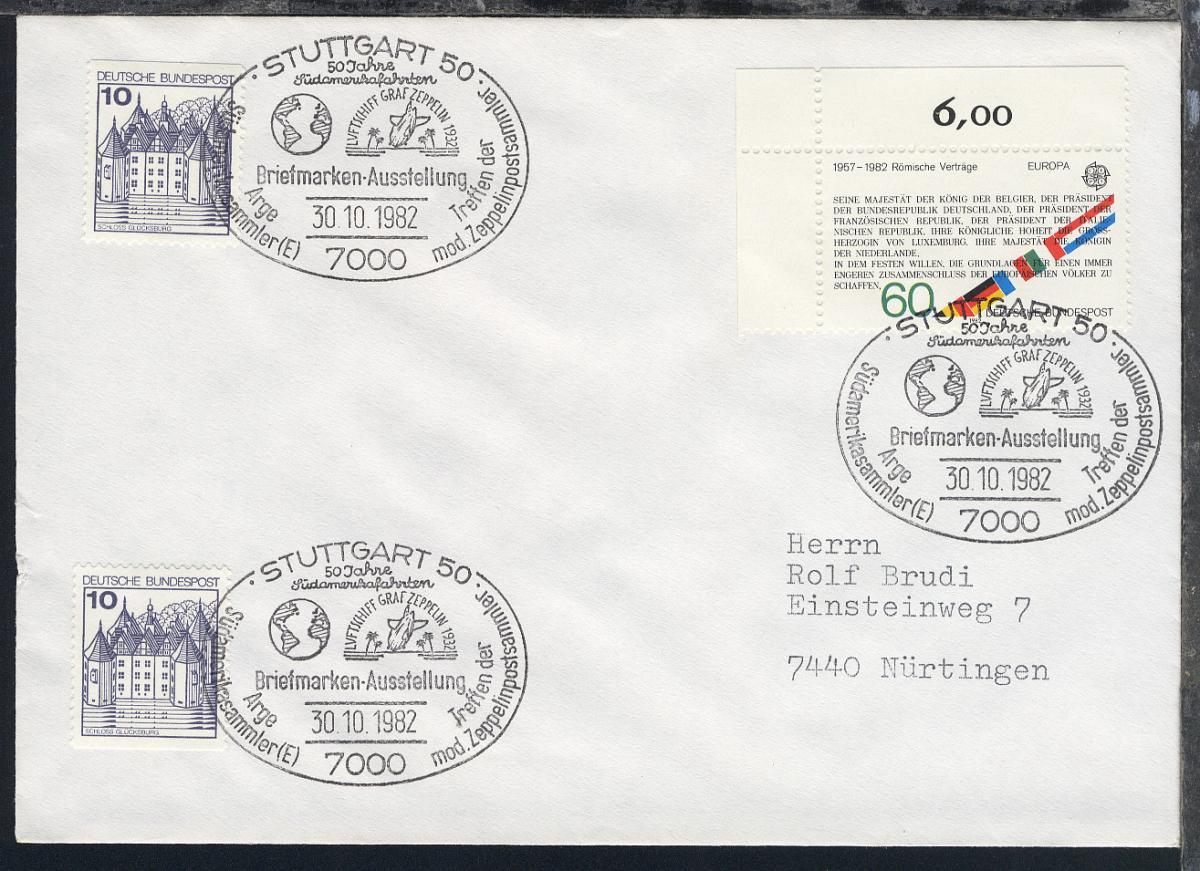 1978/83 14 verschiedene Belege mit diversen Zeppelin-Jubiläums-SSt. 5