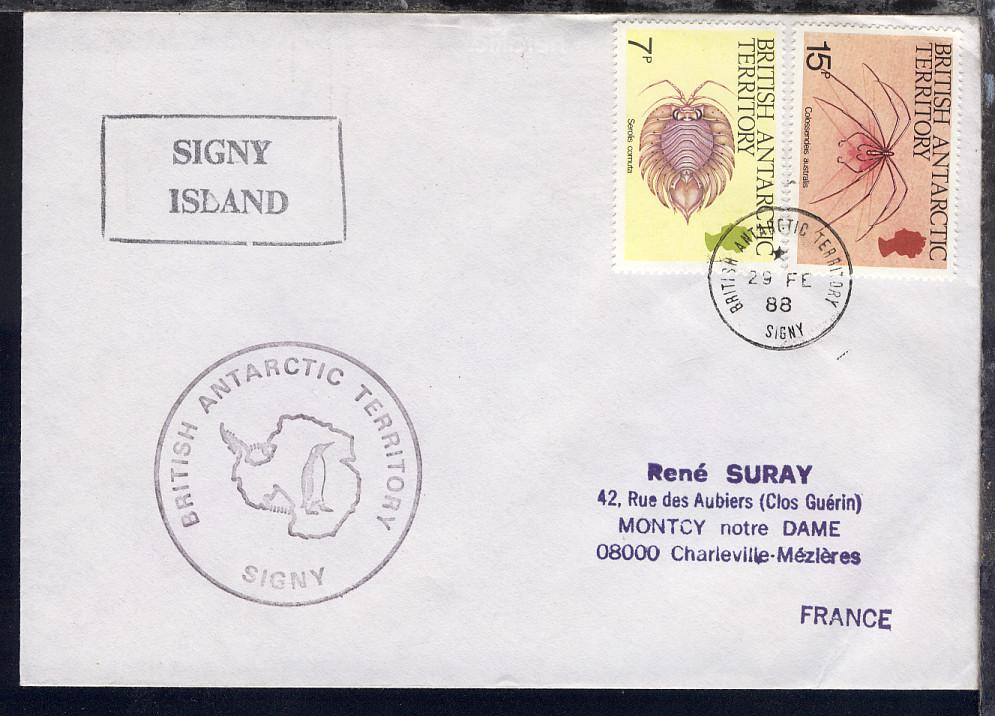 British Antarctic Territory 1988/94 4 verschiedene Belege 0