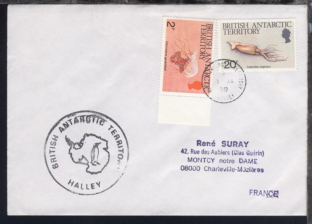 British Antarctic Territory 1988/94 4 verschiedene Belege 2