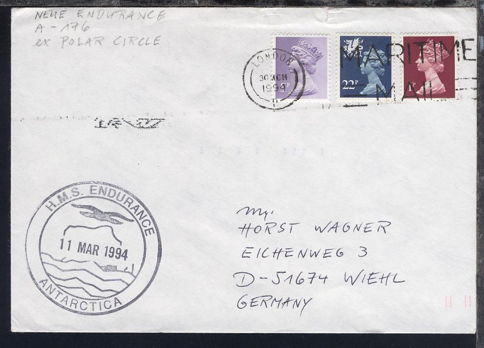 British Antarctic Territory 1988/94 4 verschiedene Belege 3