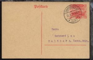 Landschaften 40 Pfg. mit Stpl. SAARBRÜCKEN 2 (BHF.) *i 31.1.21 nach Heldburg