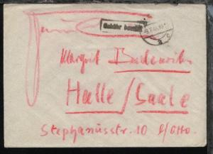 Magdeburg OSt. MAGDEBURG 2 c 9.7.48 + R1 Gebühr bezahlt auf Bf.