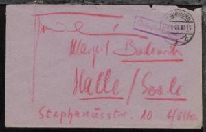 Magdeburg OSt. MAGDEBURG 2 c 14.7.48 + R1 Gebühr bezahlt auf Bf.,
