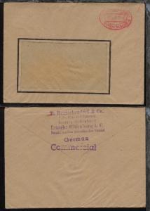 Oldenburg roter Oval-Stpl. OLDENBURG (OLDB.) Gebühr bezahlt 18.10.45