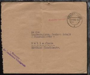 Wernigerode OSt. (19) WERNIGERODE d 27.10.48 + L1 Gebühr bezahlt auf Bf.
