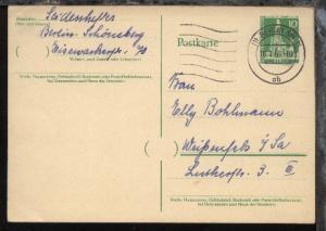 Bauten 10 Pfg. ab Berlin SW 11 18.1.59 nach Weißenfels