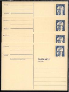 Heinemann 50 Pfg. rahmfarbener Karton, 4 Kten