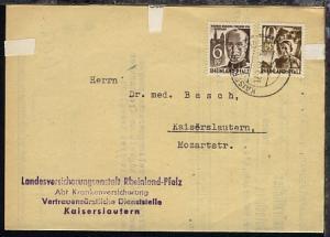 2 Werte auf Bf. der Landesversicherungsanstalt Rheinland-Pfalz