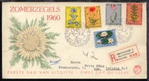 Sommermarken 1960 auf FDC als R-Bf. nach Leipzig