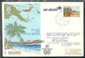 Sonder-Umschlag der AIR NIUGINI mit Stpl. PORT MORESBY 28.3.77