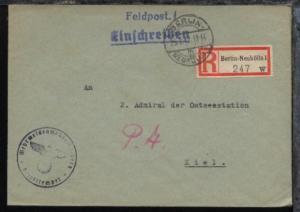 Berlin OSt. BERLIN-NEUKÖLLN 1 m 25.7.42 + BfSt. Wehrmeldeamt Berlin-Britz