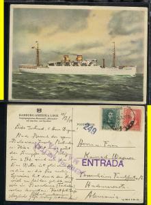 MS Milwaukee, Kte 1939 aus Spanien mit Militär-Zensur Malaga