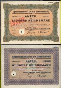 1940/41 Braunschweig-Hannoversche Hypothekenbank Braunschweig/Hannover
