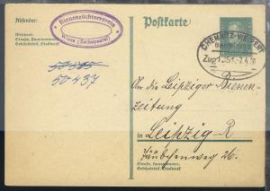 CHEMNITZ-WEIPERT Zug 1351 7.4.30 auf GSK mit Abs.-Stempel