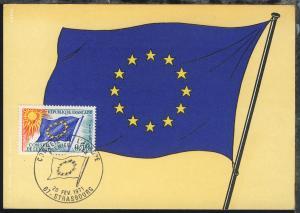 Europafahne 0,50 Fr. auf Maximum-Karte