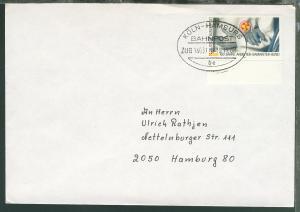 KÖLN-HAMBURG BAHNPOST be ZUG 14031 III 15.11.88 auf Brief
