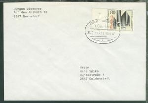 KÖLN-HAMBURG BAHNPOST i ZUG --733 28.5.87 auf Brief