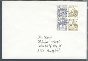 HANNOVER-BREMEN BAHNPOST c ZUG 02885 28.4.88 auf Brief