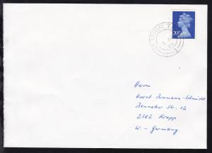 Großbritannien UP SPECIAL T.P.O. 1 3 AB 84 auf Brief