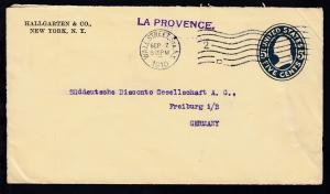 L1 LA PROVENCE auf Brief ab New York SEP 7 1910 nach Freiburg