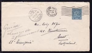hs Leitvermerk SS Berengaria auf Brief ab New York SEP 28 1932 nach Basel,