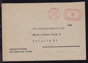 Leipzig Postfreistempel LEIPZIG C2 III * 5.9.34 DEUTSCHES REICH 8