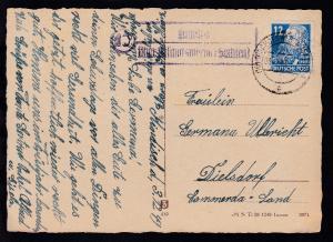 OSt. Bischofswerda 03.12.49 + R2 10 Kindisch über Bischofswerda (Sachsen)