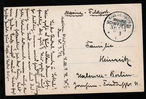 KAIS. DEUTSCHE MARINE-SCHIFFSPOST No 135 11.3.17 SMS Kaiser Wilhelm II