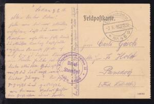 K.D. Feldpoststation Nr. 46 *a 3.8.16 + K2 Briefstempel Kriegslazarett Sedan II