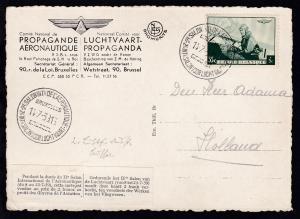 2. Luftfahrtsalon Brüssel 1939 AK (König Leopold III) mit Spendenmarke