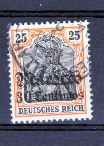 Germania 25 Pfg. mit Aufdruck Marocco 30 Centimos mit Stempel FES-MELLAH