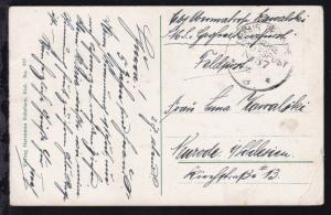 KAIS. DEUTSCHE MARINE-SCHIFFSPOST No 87 28.?.18 (= SMS Großer Kurfürst)