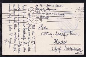 Maschinenstempel Kiel 23.11.14 + Steg-k1 BRIEFSTEMPEL Kaiserliche Marine