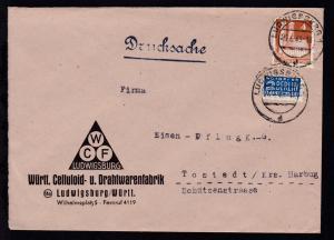 Ludwigsburg OSt. LUDWIGSBURG 1 d 25.6.49 auf Firmenbrief