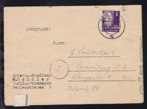 Perönlichkeiten 6 Pfg. auf Drucksache (Preisliste der Briefmarkenhandlung
